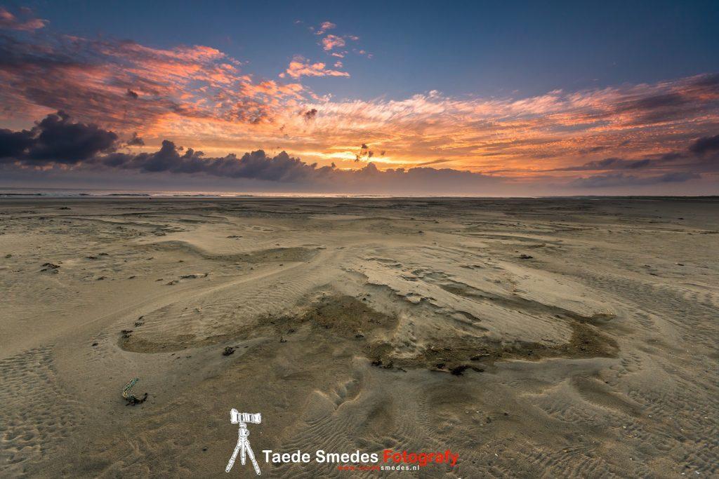 taede smedes, landschap, fotografie, garijp, ameland, strand, zonsopkomst