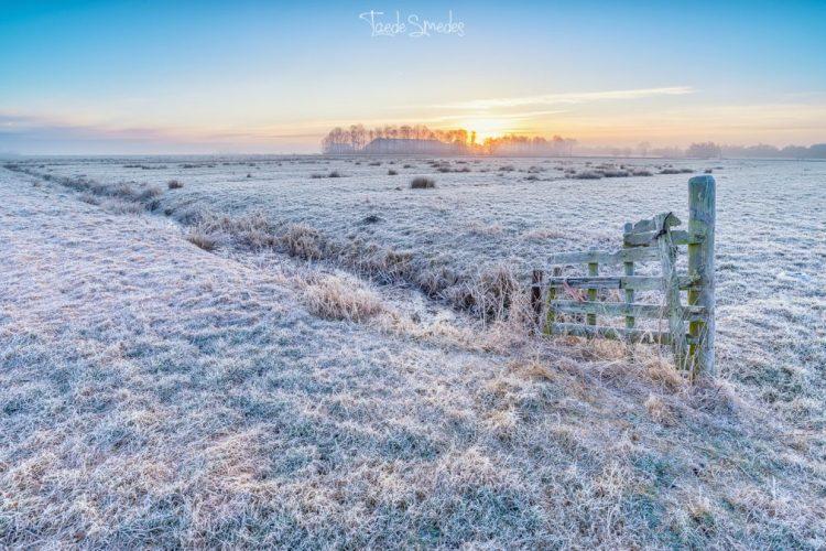 taede smedes, landschapfoto, winter, garyp, zonsopkomst, stinswei, natuur,