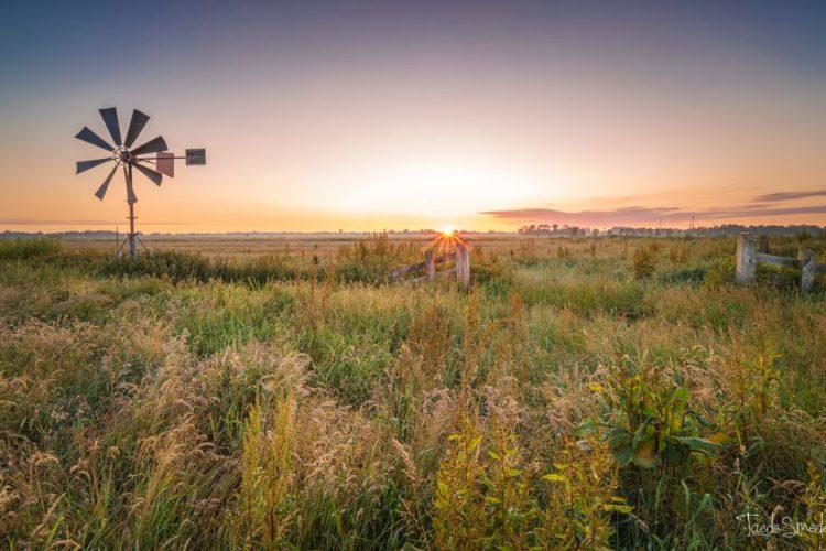 Landschapsfotograaf Friesland, Garijp, Alde Feanen, Taede Smedes, Zonsopkomst, Molen
