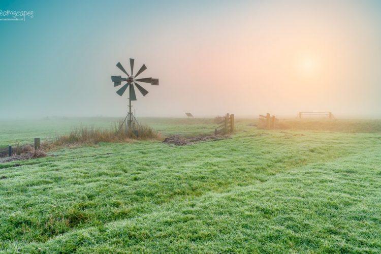 Taede Smedes, Garyp, Landschapsfotograaf, mist, herfst, molen