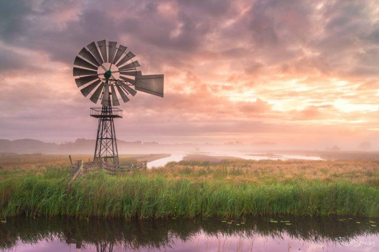 Taede Smedes, Landschapsfotografie, Garyp, Zonsopkomst, Mist