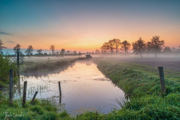 Taede Smedes, Garyp, Mist, Zonsopkomst, Friesland